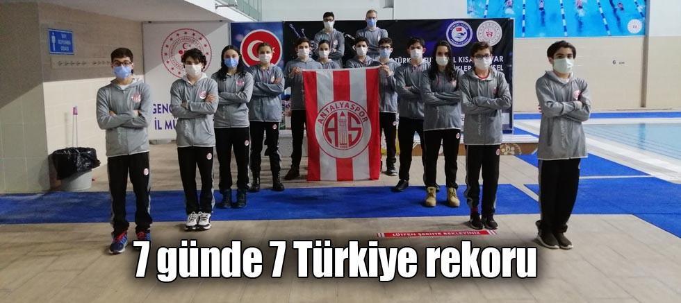 7 günde 7 Türkiye rekoru