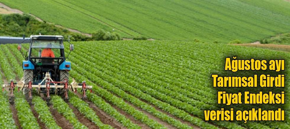 Ağustos ayı Tarımsal Girdi Fiyat Endeksi verisi açıklandı