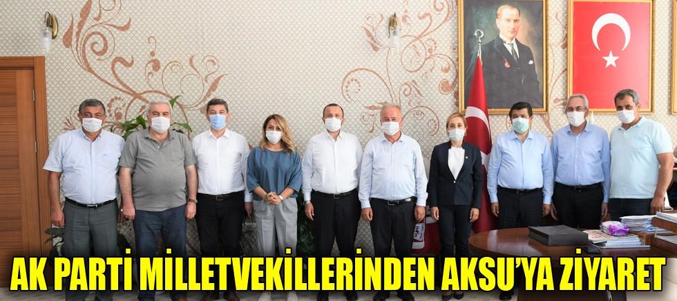 Ak Parti milletvekillerinden Aksu'ya ziyaret