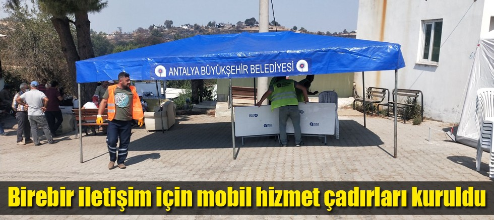 Antalya Büyükşehir Belediyesi afetzedelerin yanında