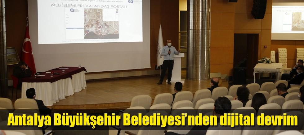 Antalya Büyükşehir Belediyesi'nden dijital devrim