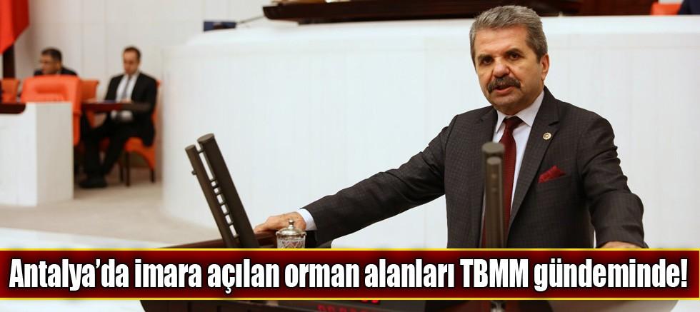 Antalya'da imara açılan orman alanları TBMM'de!