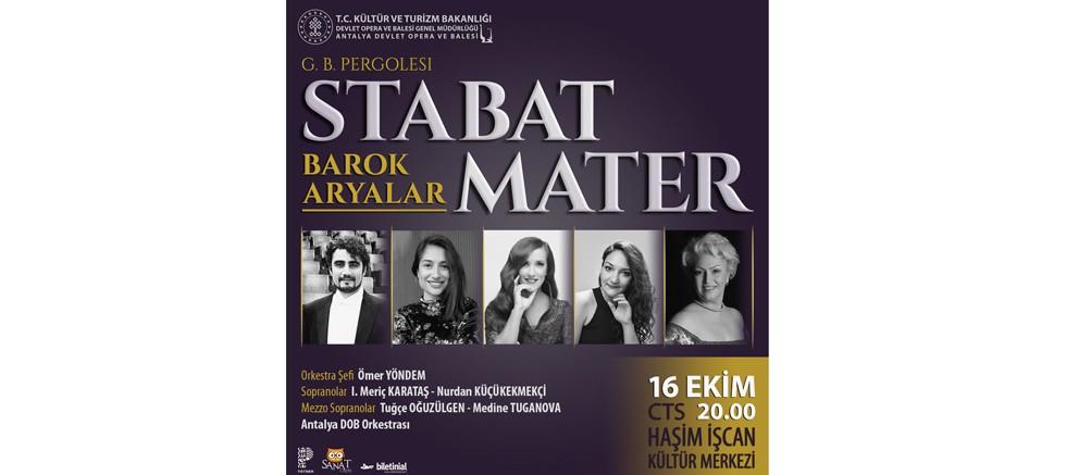 Antalya DOB'dan Stabat Mater ve Barok Aryalar Konseri