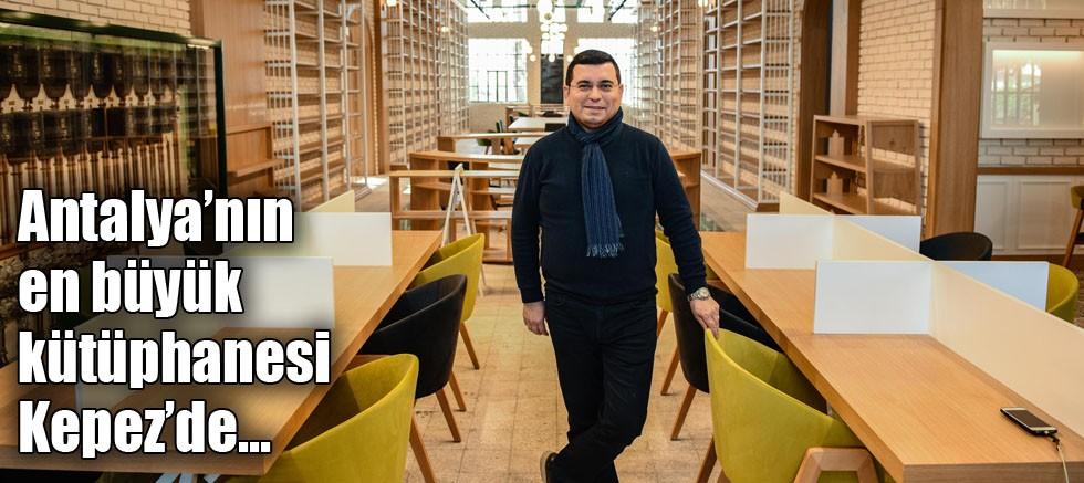 Antalya'nın en büyük kütüphanesi Kepez'de