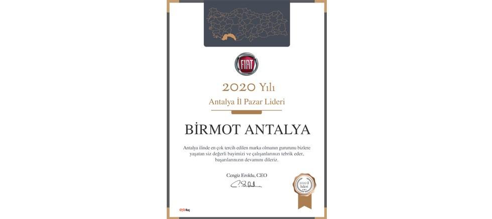 Antalya'nın Lideri Fiat ve Birmot!
