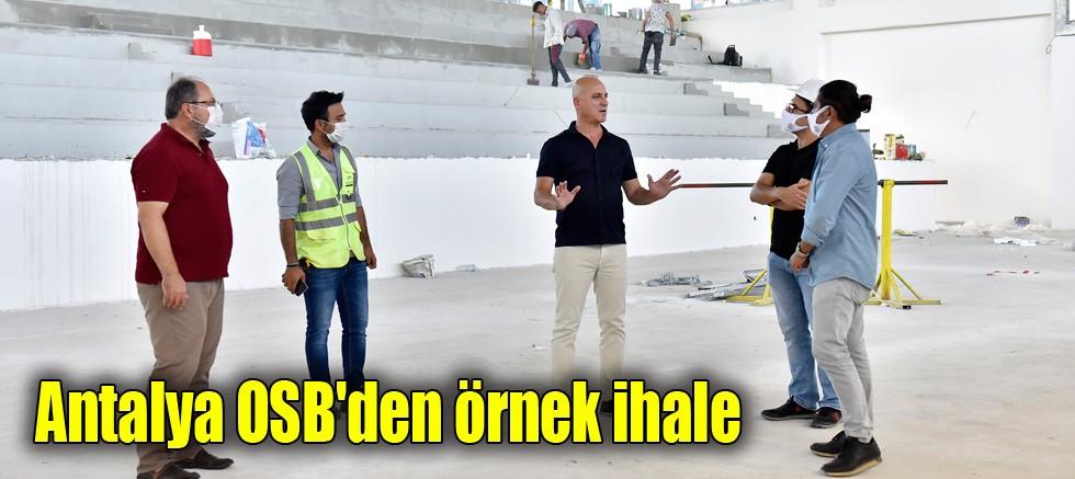 Antalya OSB'den örnek ihale