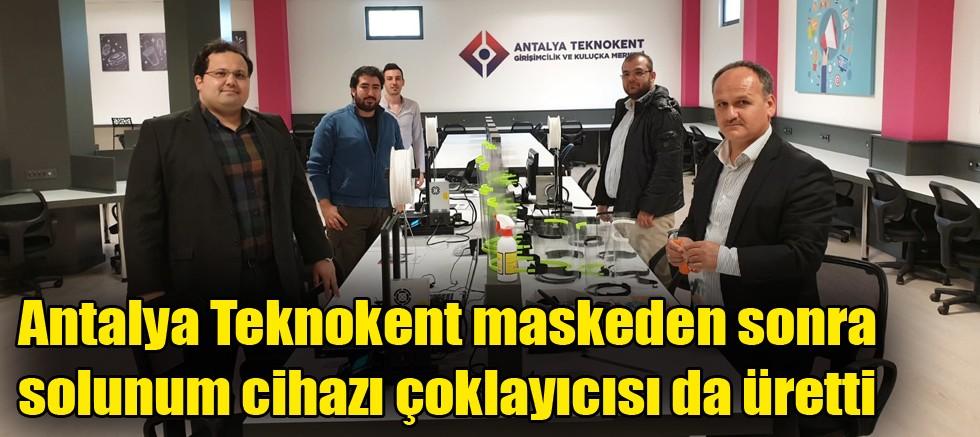 Antalya Teknokent maskeden sonra solunum cihazı çoklayıcısı da üretti