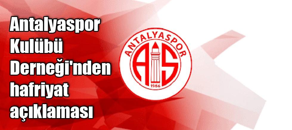 Antalyaspor Kulübü Derneği'nden hafriyat açıklaması