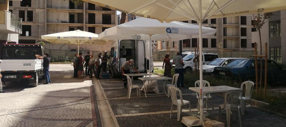 ASAT mobil hizmet aracı Kepez Santral 'de