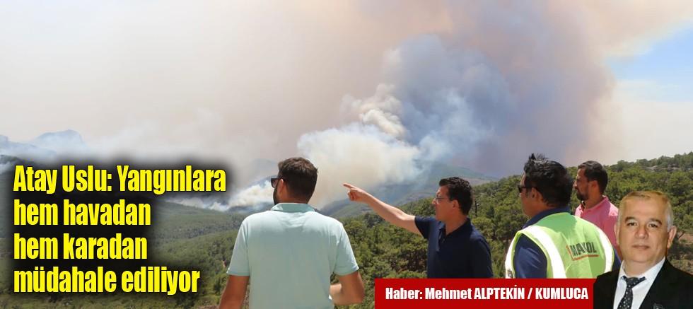 Atay Uslu: Yangınlara hem havadan hem karadan müdahale ediliyor