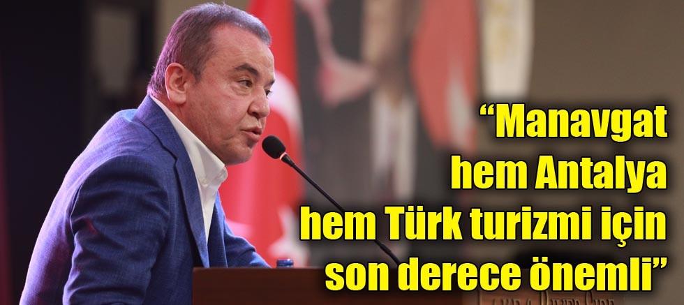 Başkan Böcek Manavgat'ın sorunlarının görüşüldüğü toplantıya katıldı