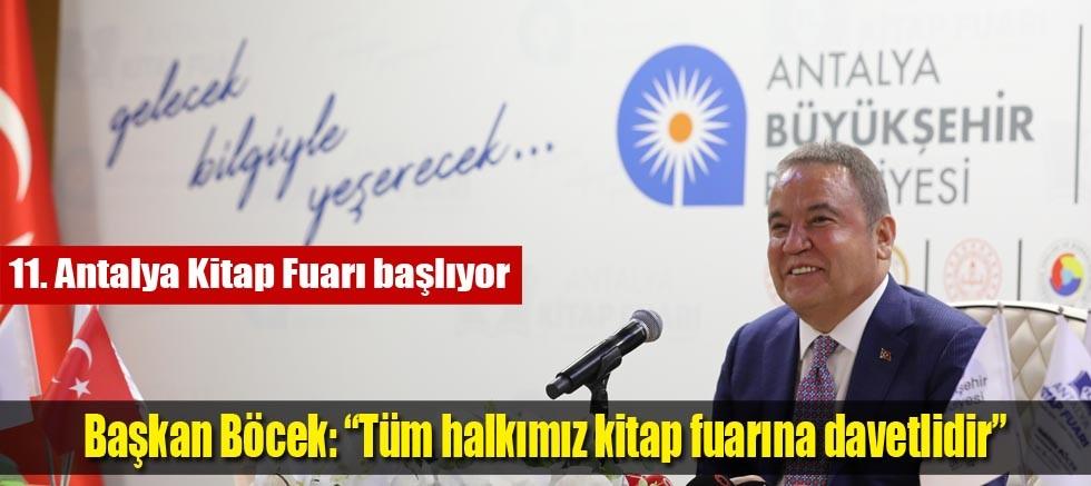 """Başkan Böcek: """"Tüm halkımız kitap fuarına davetlidir"""""""