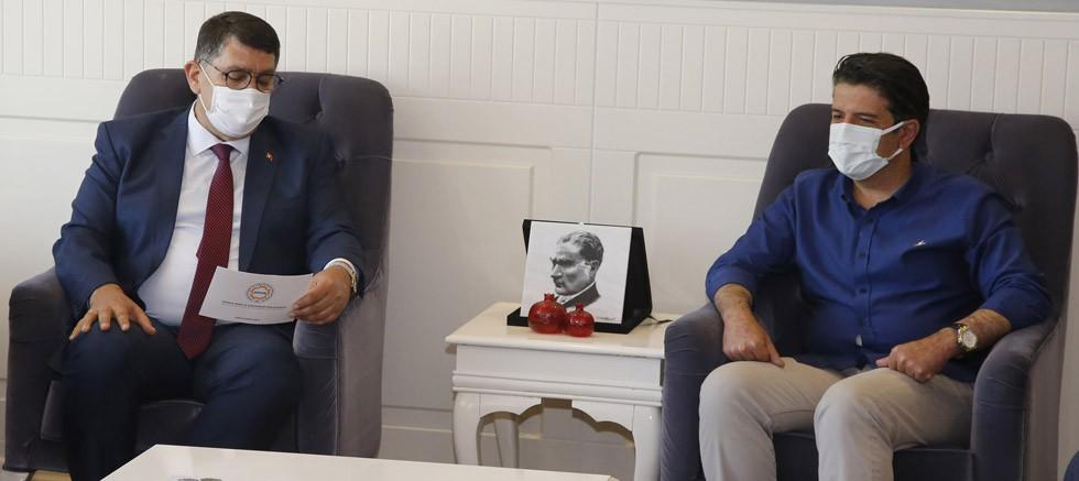 Başkan Dere'den Başkan Genç'e teşekkür ziyareti