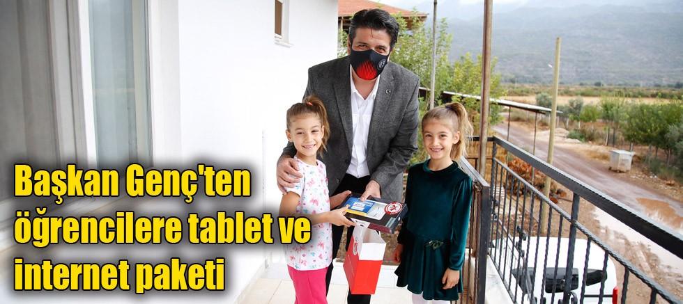 Başkan Genç'ten öğrencilere tablet ve internet paketi