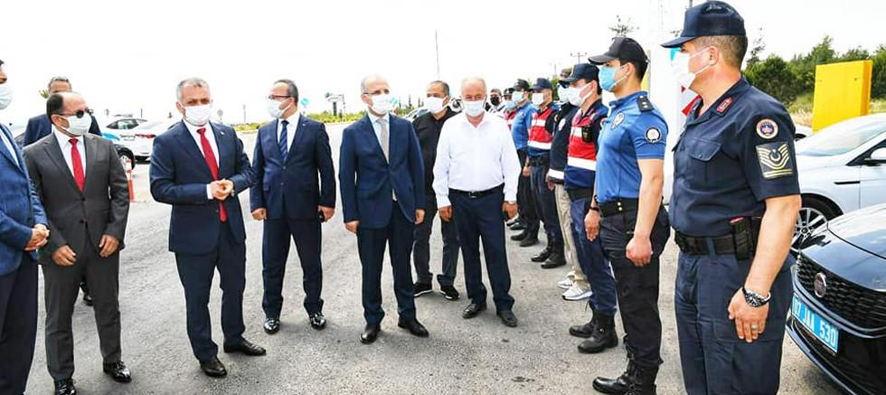 Başkan Şahin, bayramın ilk gününde tam kapanma denetimlerine katıldı