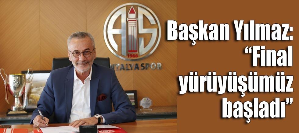 Başkan Yılmaz'dan Antalyaspor camiasına açıklama