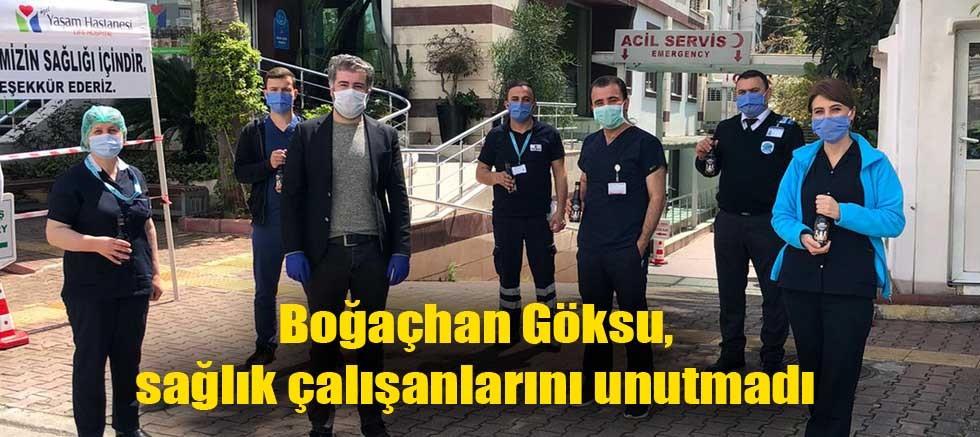 Boğaçhan Göksu, sağlık çalışanlarını unutmadı