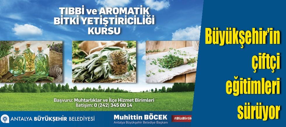 Büyükşehir'in çiftçi eğitimleri sürüyor