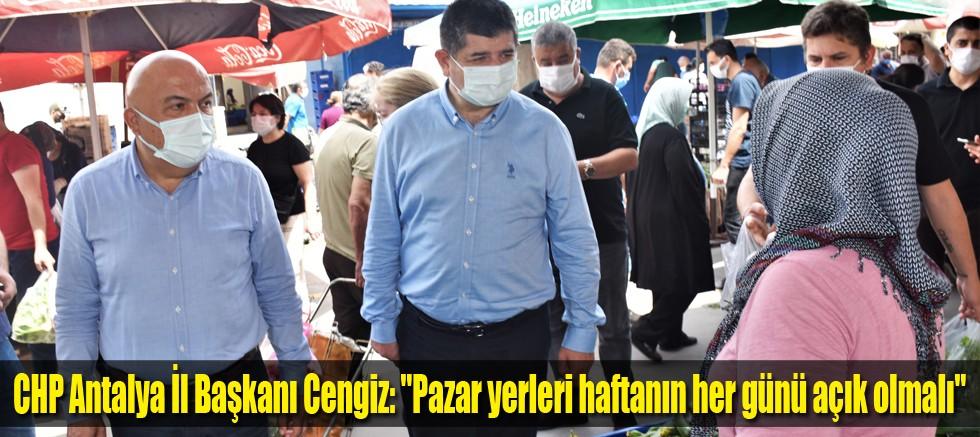 CHP Antalya İl Başkanı Cengiz:
