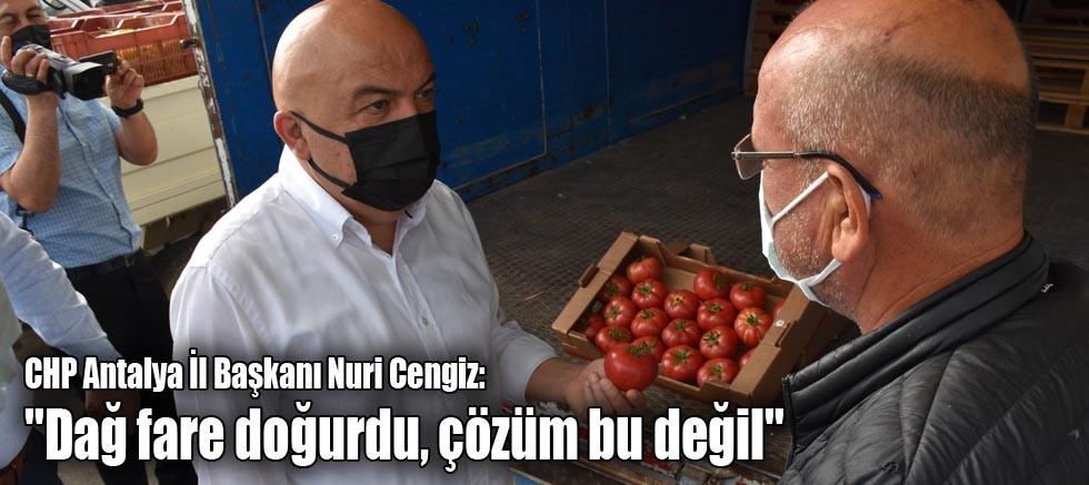 CHP Antalya İl Başkanı Nuri Cengiz: