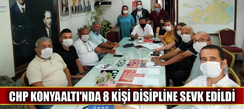 CHP Konyaaltı'nda disipline sevk edilenler
