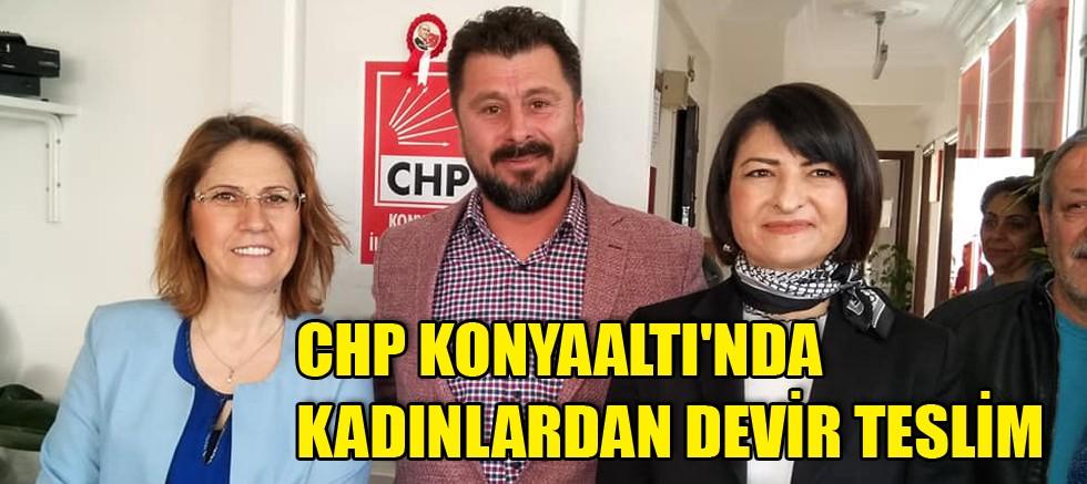 CHP Konyaaltı'nda kadınlardan devir teslim