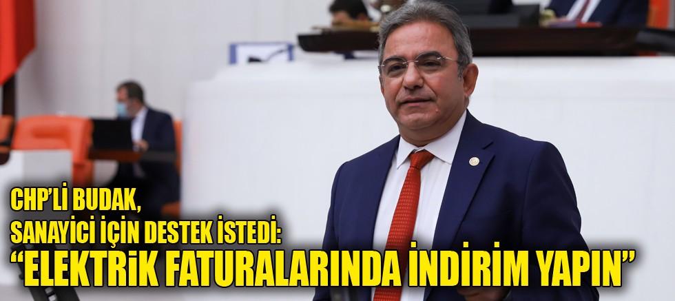 CHP'li Budak, sanayi için destek istedi: