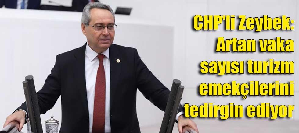 CHP'li Zeybek: Artan vaka sayısı turizm emekçilerini tedirgin ediyor