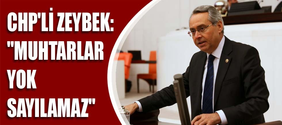 CHP'li Zeybek: