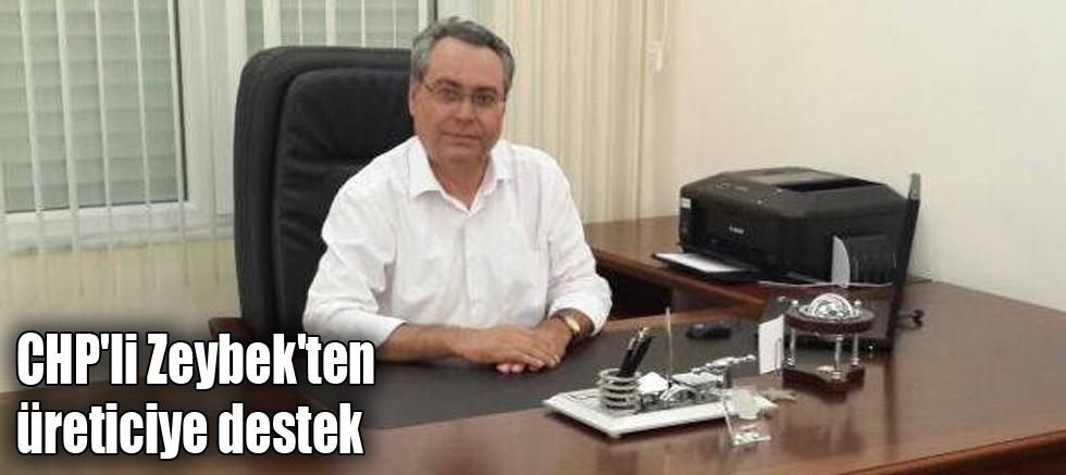 CHP'li Zeybek'ten üreticiye destek