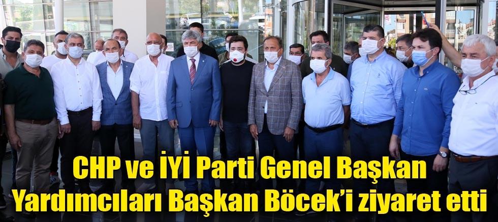 CHP ve İYİ Parti Genel Başkan Yardımcıları Başkan Böcek'i ziyaret etti