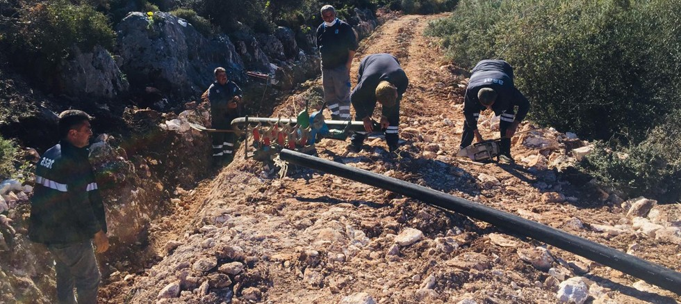 Demre Karabucak'ta içme suyu çalışması