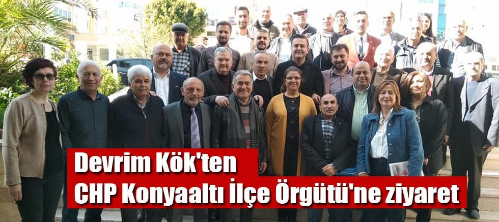 Devrim Kök'ten CHP Konyaaltı İlçe Örgütü'ne ziyaret