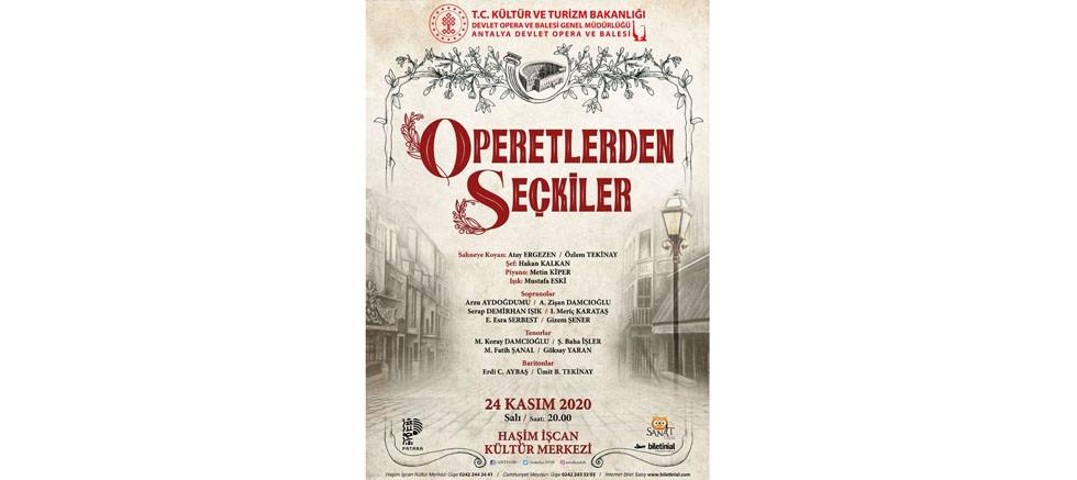 Dünyaca ünlü operetlerden seçkiler Antalya DOB sahnesinde