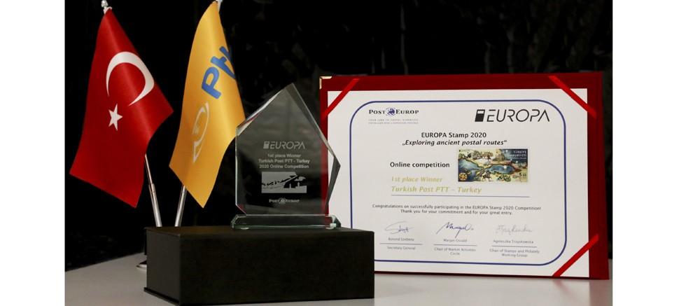 En İyi Avrupa Pulu yarışmasında birincilik ödülü PTT'nin