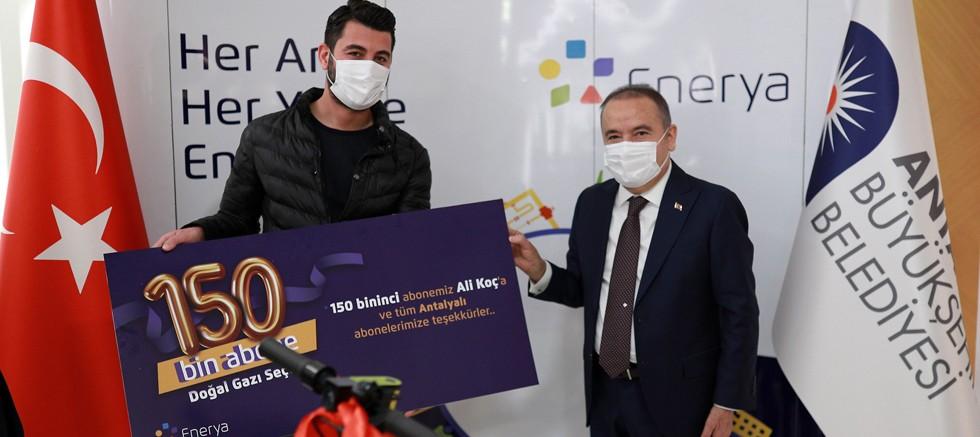 Enerya Antalya'da 150 bin aboneye ulaştı