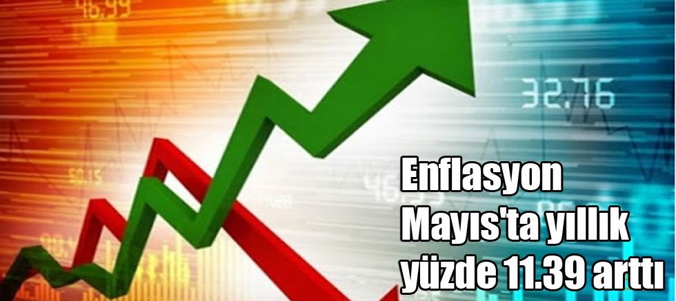 Enflasyon Mayıs'ta yıllık yüzde 11.39 arttı