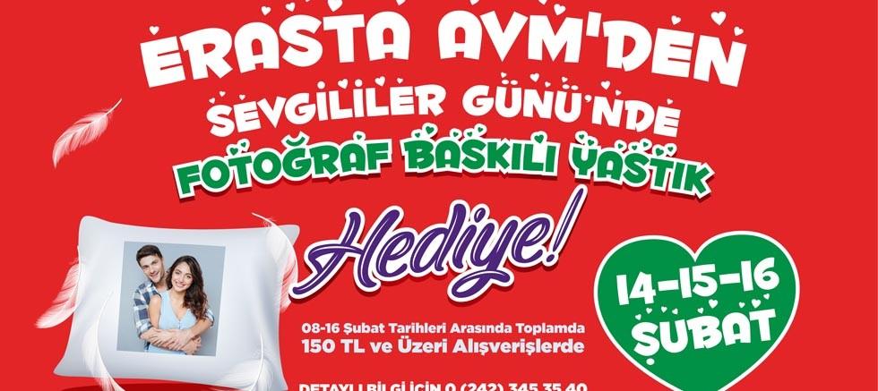 Erasta Antalya'dan Sevgililer Gününe Özel Fotoğraf Baskılı Yastık Kampanyası