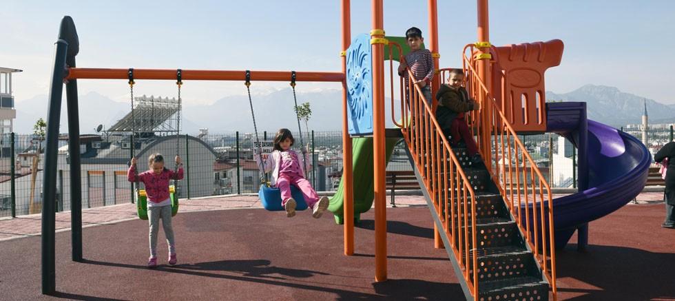 Erenköylü çocukların park mutluluğu