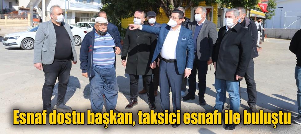 Esnaf dostu başkan, taksici esnafı ile buluştu