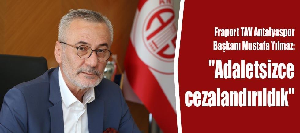 Fraport TAV Antalyaspor Başkanı Yılmaz: