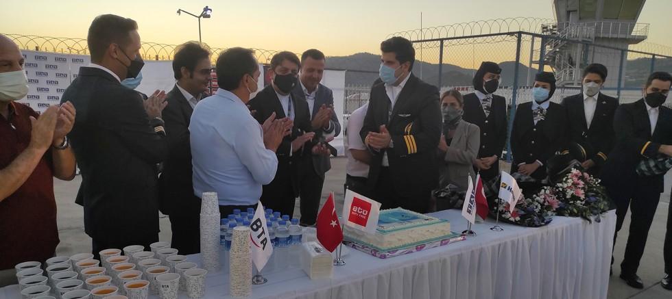 Gazipaşa-Alanya, Kish Air'in ilk seferini karşıladı
