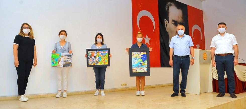 Geri dönüşüm temalı resim yarışmasının kazananları belli oldu