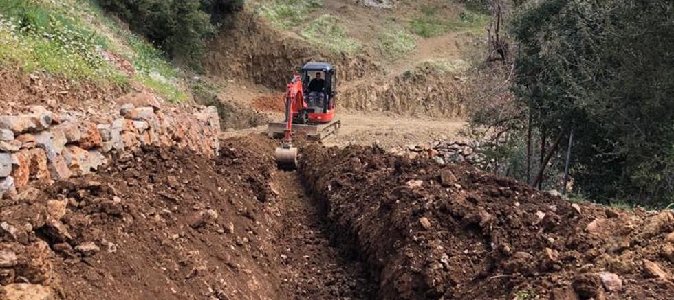 Gündoğmuş Kayabükü'nde yol ve içme suyu çalışması