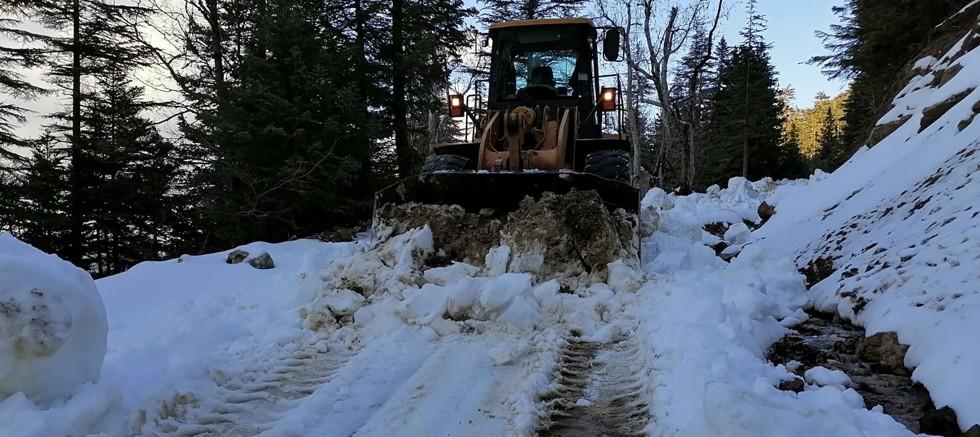 Gündoğmuş Köprülü yayla yolu kardan temizlendi
