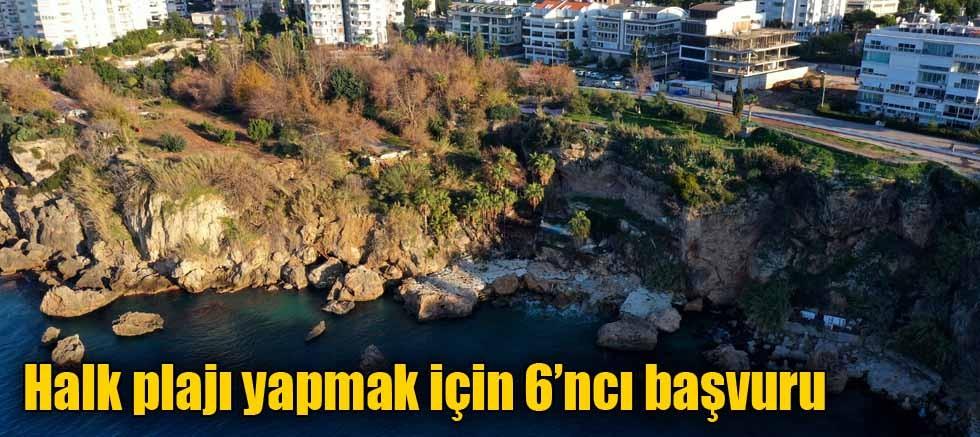Halk plajı yapmak için 6'ncı başvuru