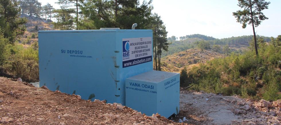 İçme suyu sıkıntısına portatif depo çözümü