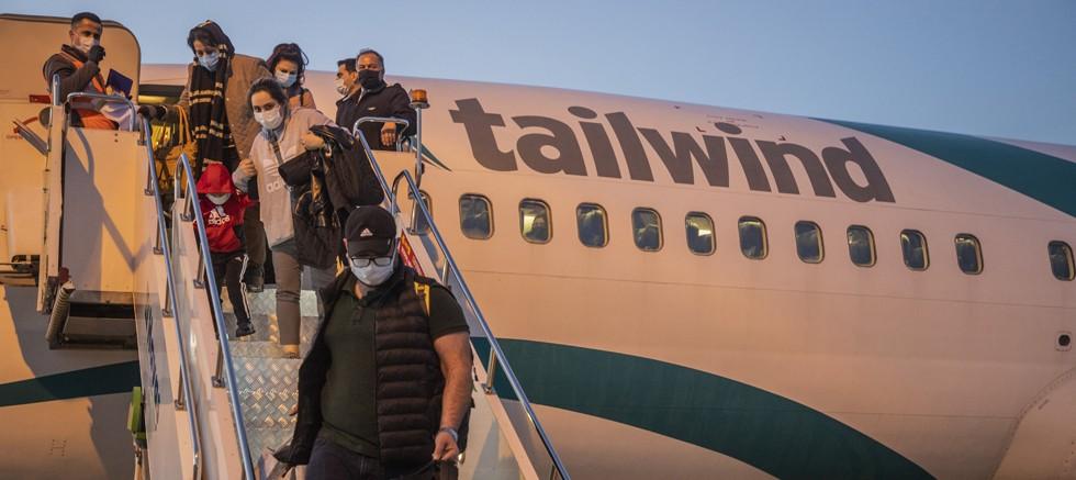 İranlı yolcuları Alanya'ya taşıyacak Tailwind Havayolları yeniden GZP-Alanya Havalimanı'nda...
