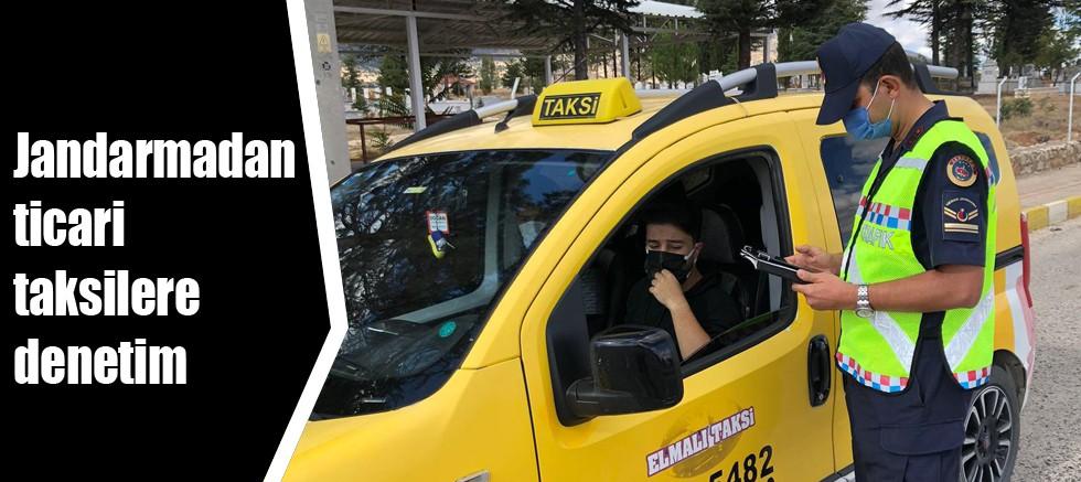 Jandarmadan ticari taksilere denetim
