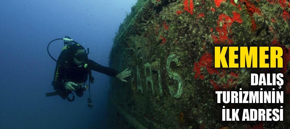 Kemer dalış turizminin ilk adresi
